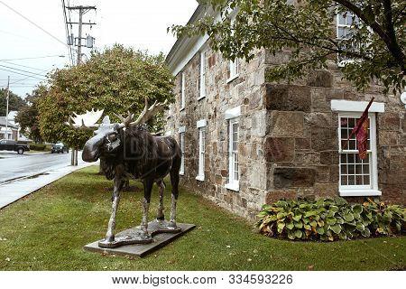 Bennington, Vermont - October 1st, 2019:  Exterior Of Downtown Bennington Visitor Center In The New