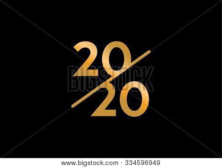 Happy New Year 2020, Modern, Sophisticated, Luxurious, 2020 Logo Inspiration