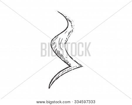 Isolated Crotchet Rest Sketch. Musical Note - Vector