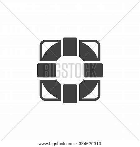 Life Buoy Vector Icon. Filled Flat Sign For Mobile Concept And Web Design. Life Saver Glyph Icon. Sy