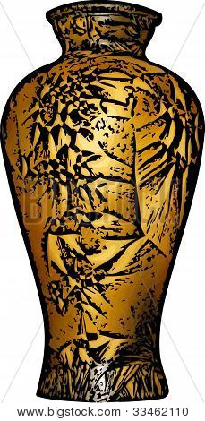 Golden Vase Illustration