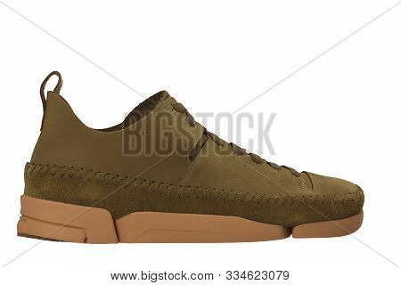 Medium Brown Ivory Mushroom, Men Women's Casual Shoes Sneakers Stock Photo, Women Brown Shoes With W