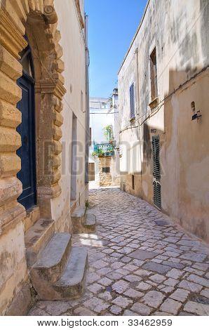 Alleyway. Otranto. Puglia.Italy.