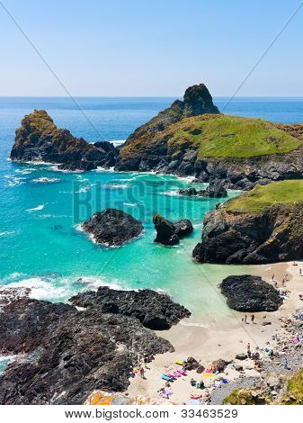 Turquoise Sea At Kynance Cove