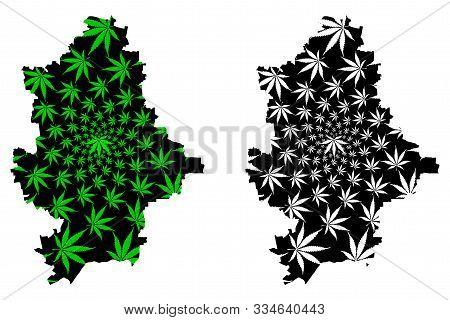 Donetsk Oblast (administrative Divisions Of Ukraine, Oblasts Of Ukraine) Map Is Designed Cannabis Le