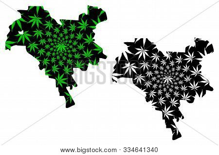 Kiev City (administrative Divisions Of Ukraine, City With Special Status) Map Is Designed Cannabis L