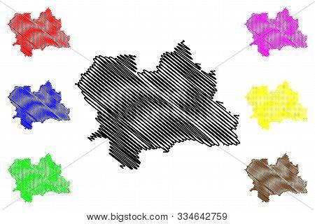 Zilina Region (regions Of Slovakia, Slovak Republic) Map Vector Illustration, Scribble Sketch Zilina