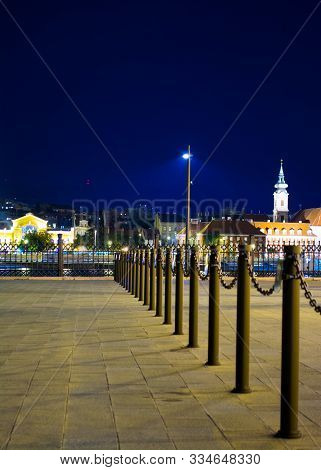 Budapest, Hungary - September 15, 2014: Night View Of Downtown In Budapest