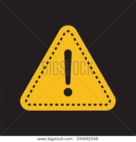Danger, Hazard Yellow Symbol. Danger Alert Or Attention. Attention Triangle Sign. Hazard Alert Infor