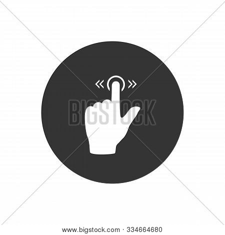 Slide Icon Gesture On Gray. Vector Modern Flat Style