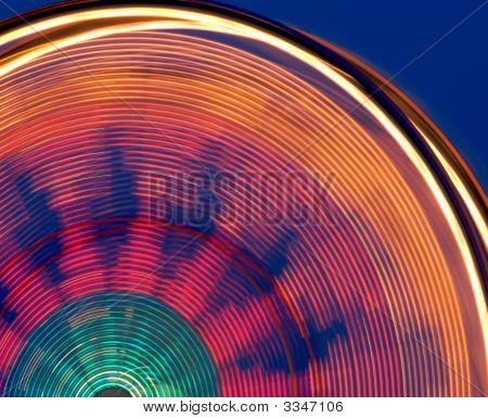 Colorful Carnival Ferris Wheel