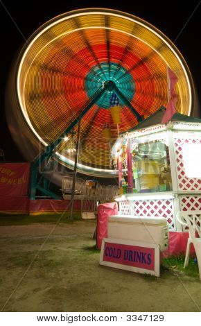 Snack Bar And Ferris Wheel