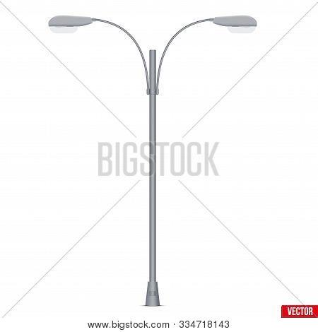 Street Light Lamp Post. Sample Urban Lamppost Model. Used Light Bulbs And Leds. Urban Equipment Lant