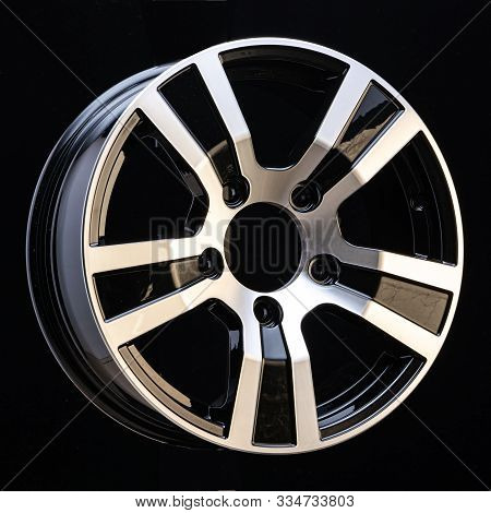 Car Cast Aluminum Alloy Wheels, Black Silver With Polished Front, Very Beautiful And Modern, Fashion