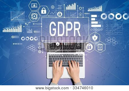 Gdpr Concept With Person Using A Laptop Computer