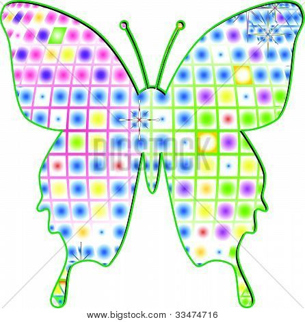 Multicolor Butterfly Vector