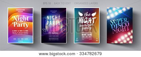 Poster Design. Flyer Template. Abstract Background. Template Design. Party Background.  Poster Templ