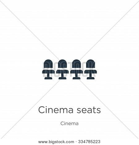 Cinema Seats Icon Vector. Trendy Flat Cinema Seats Icon From Cinema Collection Isolated On White Bac