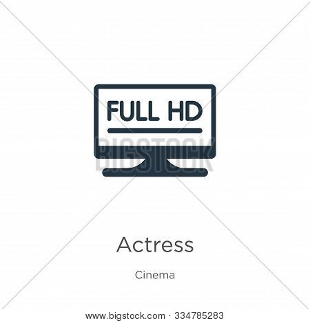 Actress Icon Vector. Trendy Flat Actress Icon From Cinema Collection Isolated On White Background. V