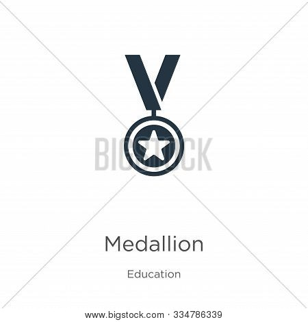 Medallion Icon Vector. Trendy Flat Medallion Icon From Education Collection Isolated On White Backgr