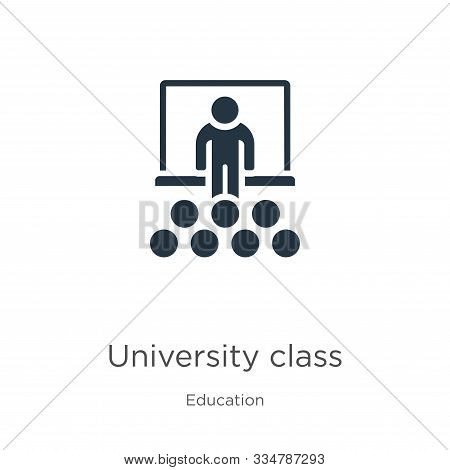 University Class Icon Vector. Trendy Flat University Class Icon From Education Collection Isolated O