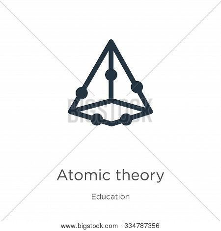 Atomic Theory Icon Vector. Trendy Flat Atomic Theory Icon From Education Collection Isolated On Whit