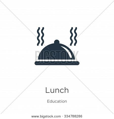 Lunch Icon Vector. Trendy Flat Lunch Icon From Education Collection Isolated On White Background. Ve