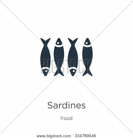 Sardines Icon Vector. Trendy Flat Sardines Icon From Food Collection Isolated On White Background. V