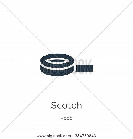 Scotch Icon Vector. Trendy Flat Scotch Icon From Food Collection Isolated On White Background. Vecto