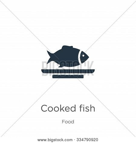 Cooked Fish Icon Vector. Trendy Flat Cooked Fish Icon From Food Collection Isolated On White Backgro
