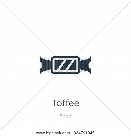 Toffee Icon Vector. Trendy Flat Toffee Icon From Food Collection Isolated On White Background. Vecto