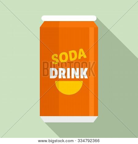 Soda Tin Can Calories Icon. Flat Illustration Of Soda Tin Can Calories Vector Icon For Web Design