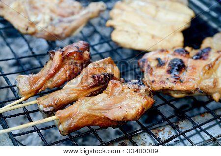 Rare Chicken On Grille Street