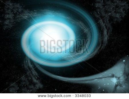 Blue Nebula At Space, Universe