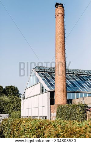Amsterdam, Netherlands - July 18th, 2016:  Exterior View Of Conservatory And Greenhouse, Farm To Tab