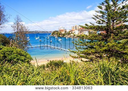 View Of The Beach And Harbour, Little Manly, Sydney, New South Wales, Nsw, Australia