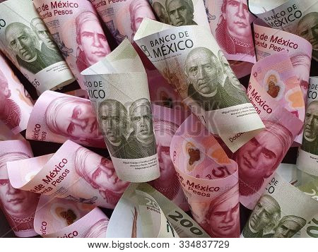 Approach To Mexican Banknotes Of Different Denominations Unorganized