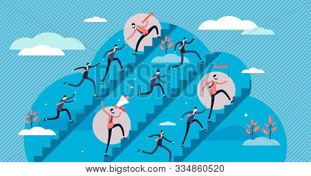 Leadership Styles Tiny Persons Concept Vector Illustration. Business Leading By Forceful Commands An