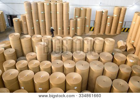 Storage Paper Carton Paper Factory Many Bobbin