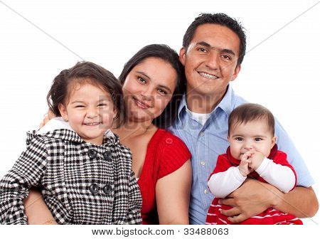Beautiful Happy Young Family