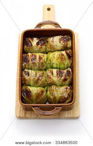 baked cabbage rolls , finnish cuisine