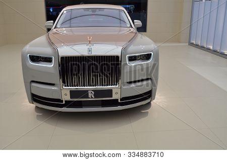 Geneva, Switzerland, March 06-2018: Rolls Royce Phantom One Of One At Gims