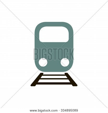 Train Icon Vector, Modern Transportation Sign Isolated On White Background. Trendy Flat Style For Gr