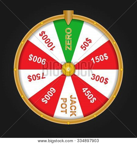 Wheel Of Fortune With Sector Zero And Sector Jackpot.