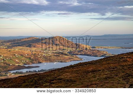 Teeling Seen From The Slieve League Cliffs In County Donegal - Ireland