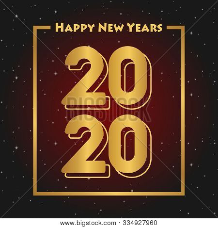 Happy New Year 2020 Red Black Gradation Background For Your Company