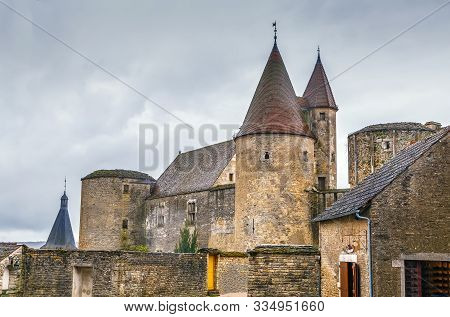 Chateau De Chateauneuf Is A 15th-century Fortress In The Commune Of Chateauneuf, 43 Km From Dijon, F