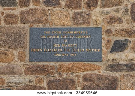 Dedication To Queen Elizabeth The Queen Mother Commemorating The Date Of Her Fourth Visit Of Guernse
