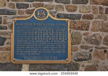 St. Peter Port, Guernsey, Channel Islands - August 16, 2017: Dedication To Major-general Isaac Brock