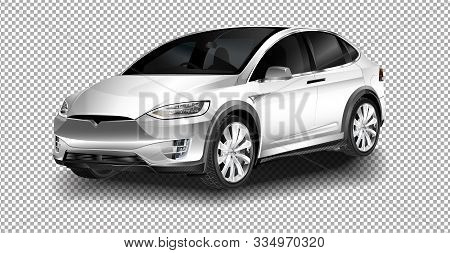 Berlin - November 09, 2016: Showroom. The Full-sized, All-electric, Luxury, Crossover Suv Tesla Mode